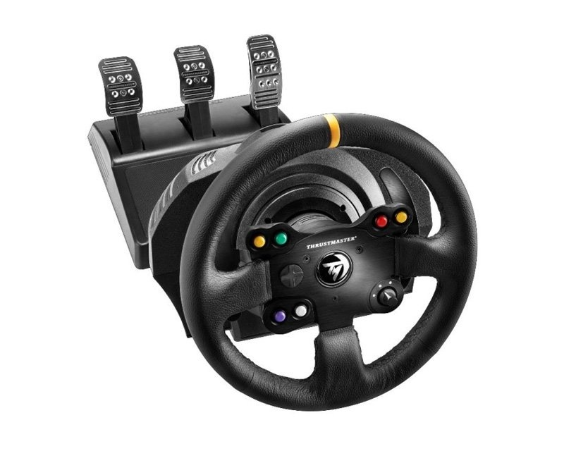 TX Racing Wheel - Leather Edition (XBOX ONE/PC) i gruppen Konsol / Xbox / Xbox One Tillbehör / Ratt hos MaxGaming (10275)