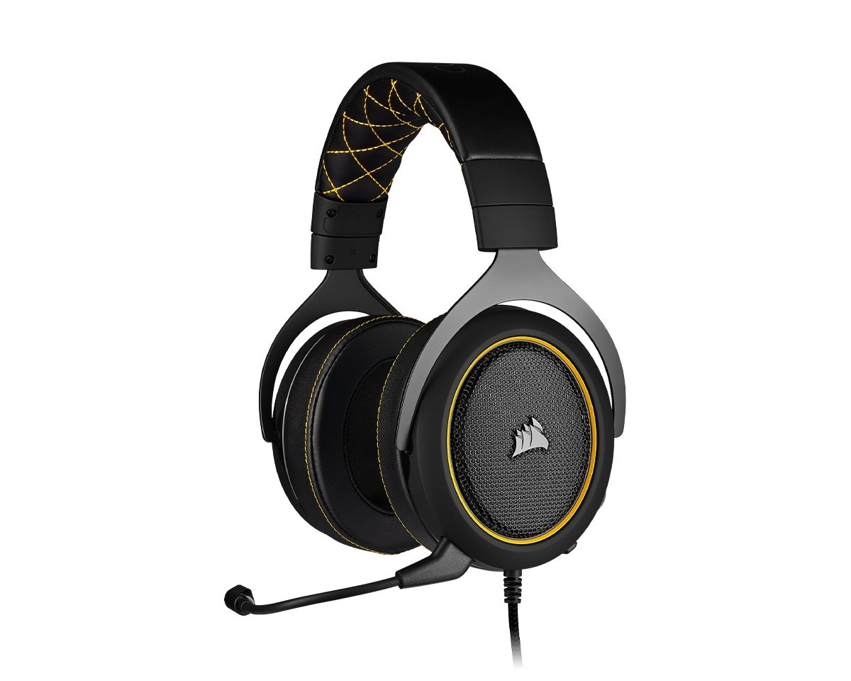 Gaming HS60 PRO Gaming Headset Gul i gruppen Konsol / Xbox / Xbox One Tillbehör / Headsets hos MaxGaming (15280)