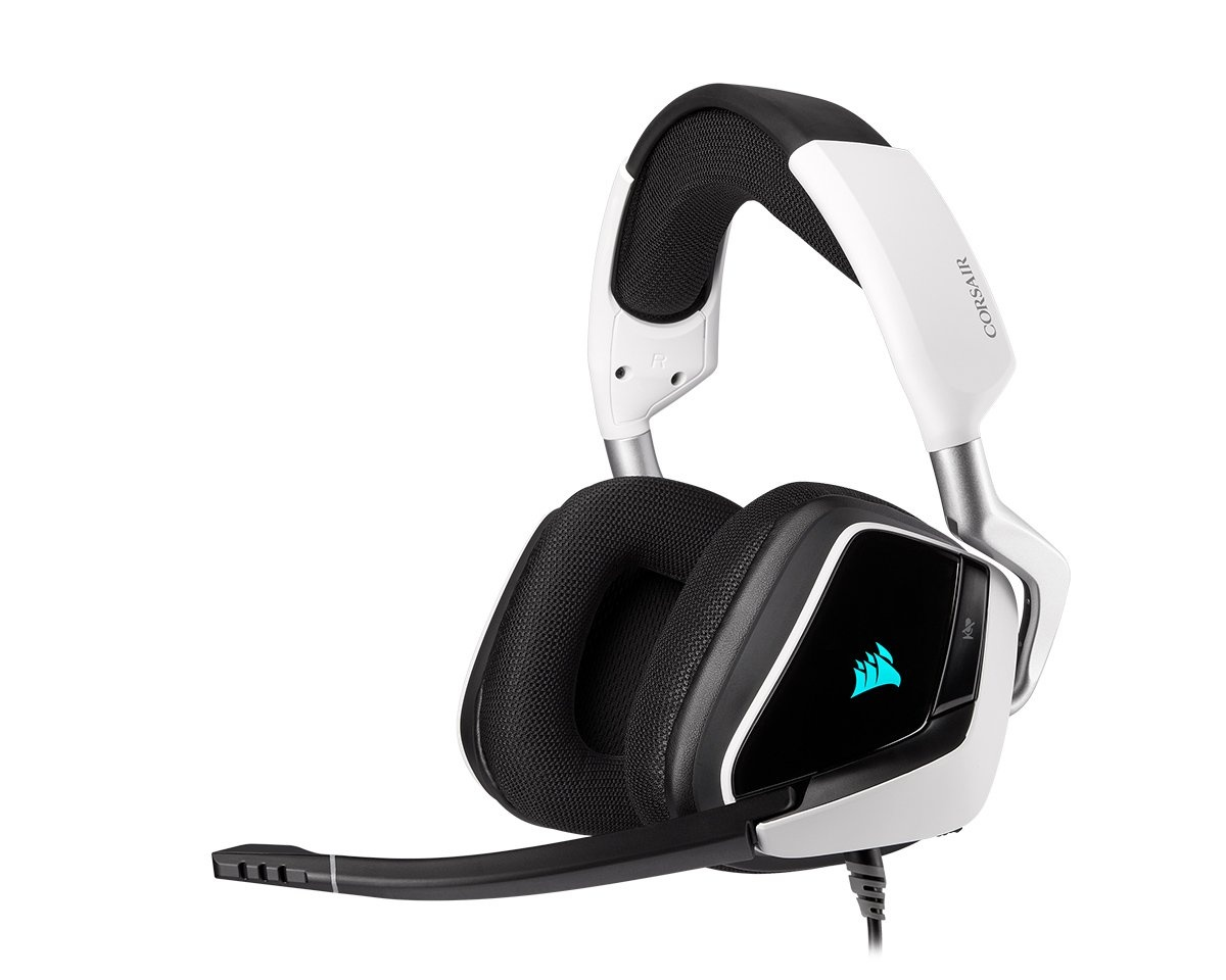VOID RGB ELITE USB Premium Gaming Headset 7.1 Vit i gruppen Datortillbehör / Headset & Ljud / Gaming headset / Trådbundna hos MaxGaming (15284)
